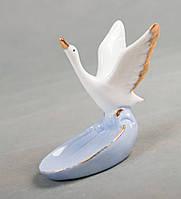 Фарфоровая пепельница Лебедь