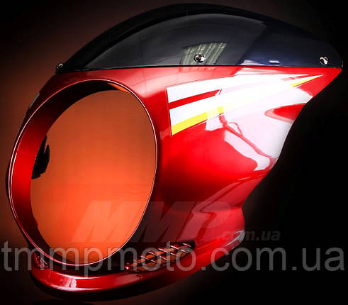 Обтекатель SONIK под круглую фару красный, фото 2