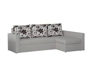 Кутовий розкладний диван в вітальню з натурального дерева Фаворит-2 Скіф