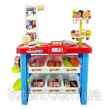 Детская кондитерская 40 предметов супермаркет, магазин, высота 76 см. Игровой набор 668-19-21 Красный
