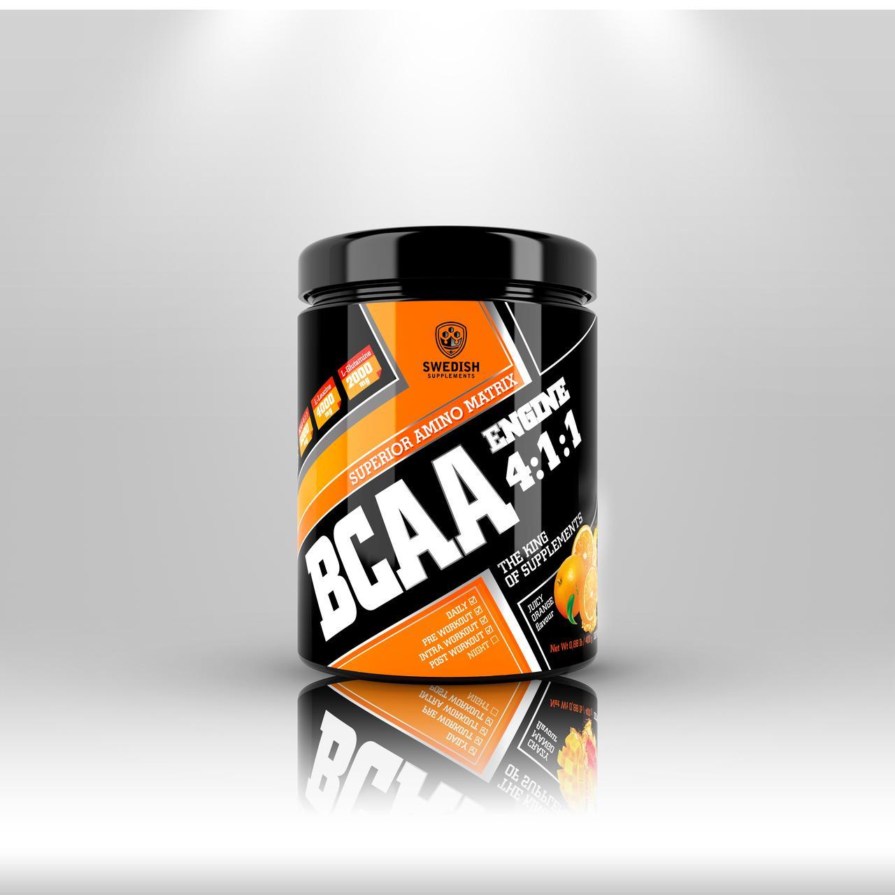 Swedish supplements - BCAA - 400g Honey Melon