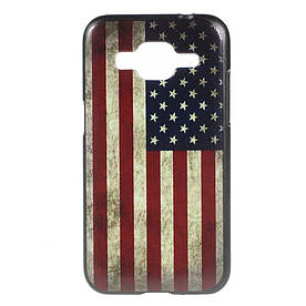 Чехол накладка для Samsung Galaxy Core Prime G360H пластиковый, Ретро флаг Америки