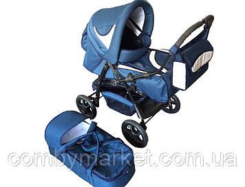 Детская коляска Яся Len с конвертом синий