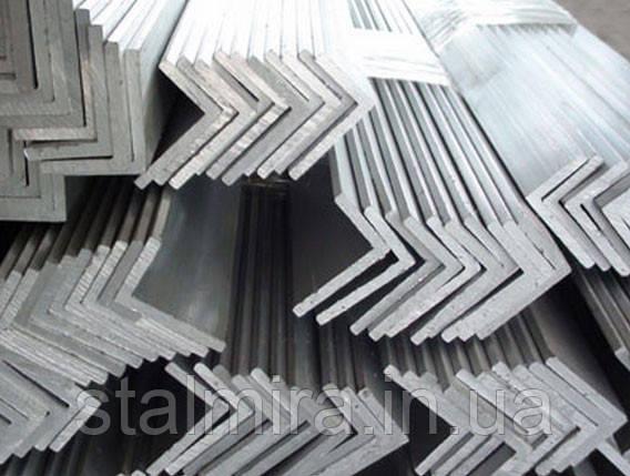 Уголок алюминиевый 30/40, толщина стенки 3, марка алюминия АД31, АМг5, Д16Т, АМц