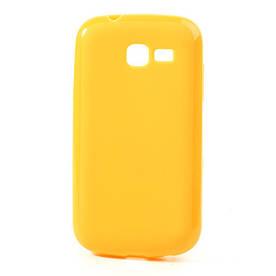 Чехол накладка силиконовый для Samsung Galaxy S7392 Trend Duos, желтый