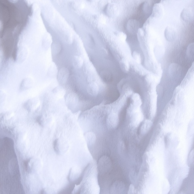 Плюшевая ткань Minky белый (плот. 350 г/м.кв) ОТРЕЗ (размер 1.5*1.6 м)