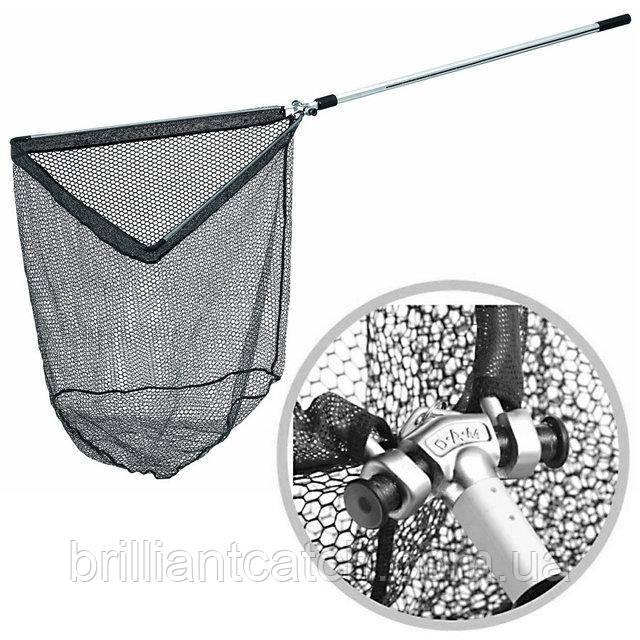 Подсак раскладной DAM GUMMI Landing Net с прорез.сеткой 2.40м  склад. гол. 60см х 60см