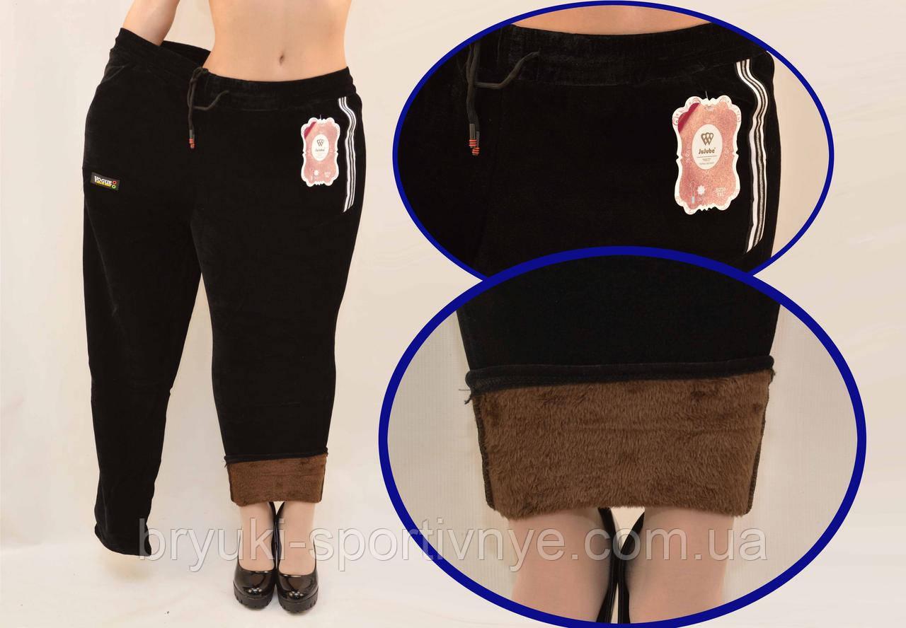 Брюки женские зимние с содержанием вербльюжей шерсти - термо велюр на меху  в больших размерах 5XL - 9XL