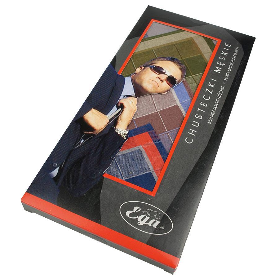 Якісні носові хустки в наборі для чоловіків Ega 6 шт СН-007/6 С