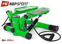 Степпер Hop-Sport HS-30S green для будинку і спортзалу, фото 1
