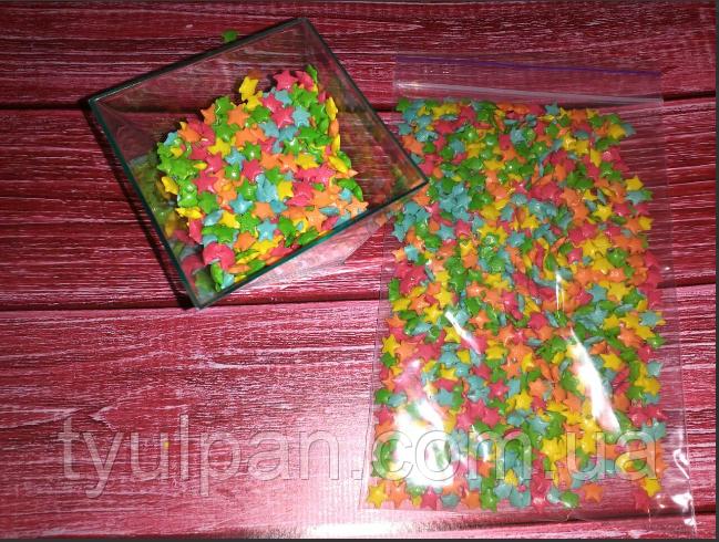 Посыпка сахарная звездочки 0,5 см 50 г