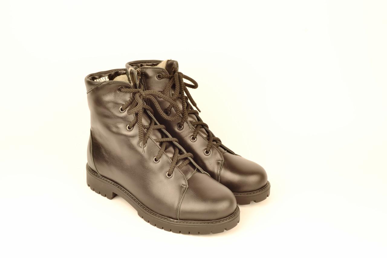 Подростковые ботинки на мальчика натуральная кожа зимние и демисезонные от производителя 133108