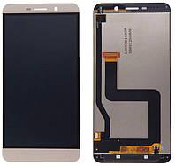 Дисплей для LeTV (LeEco) X800 Le One Pro + touchscreen, золотистый, оригинал (Китай)