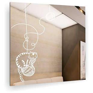Дзеркало у ванну кімнату Коти і нитки БЦ-Стол