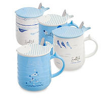 Набор из 4 чашек Ловись, рыбка MUG-102. Морской сувенир