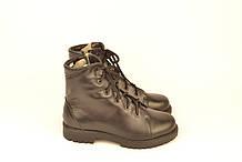 Ботинки детские для мальчика натуральная кожа черные 133108