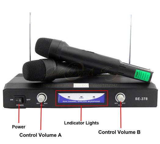 Комплект беспроводных микрофонов Shure SH-378, фото 2
