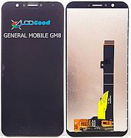 Модуль ( дисплей + тачскрин ) General Mobile GM8 Чорний
