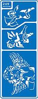 """Трафарет для нанесения рисунка на торт №249 """"Ангелочки"""" (код 03785)"""