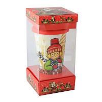 Кружка с силиконовой крышкой в подарочной упаковке Christmas