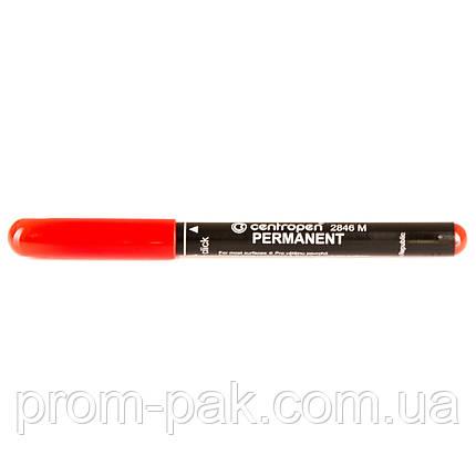 Перманентный маркер Centropen 2846  1,0 мм  красный , фото 2