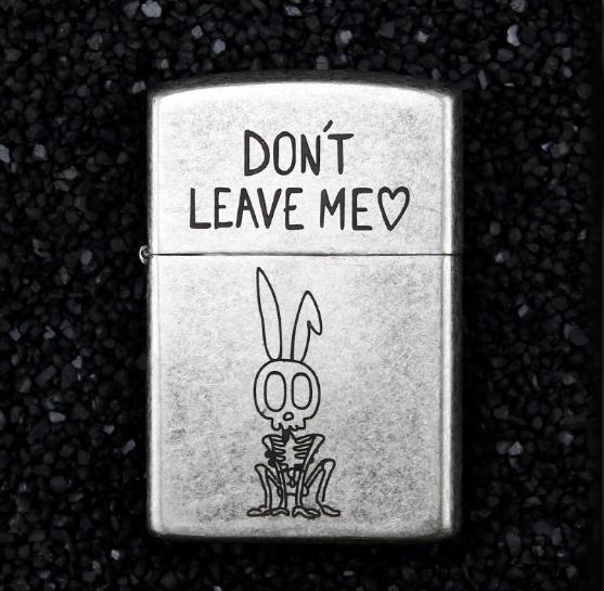 Зажигалка бензиновая Zorro серия Bones «Don't Leave Me»