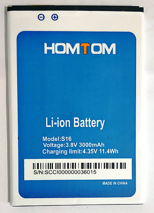 Аккумулятор Homtom S16 3000mAh, фото 2