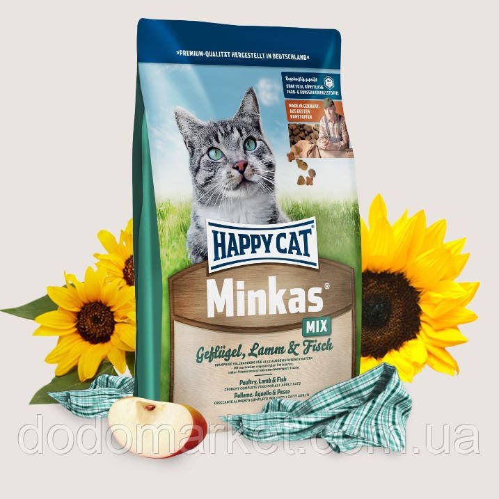 Сухой корм для кошек Happy Cat Minkas Mix 10 кг