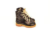 Ботинки детские на девочку натуральная кожа черные зимние и демисезонные от производителя 133114
