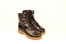 Ботинки подростковые для девочки натуральная кожа с нанесением лака зимние от производителя 133114
