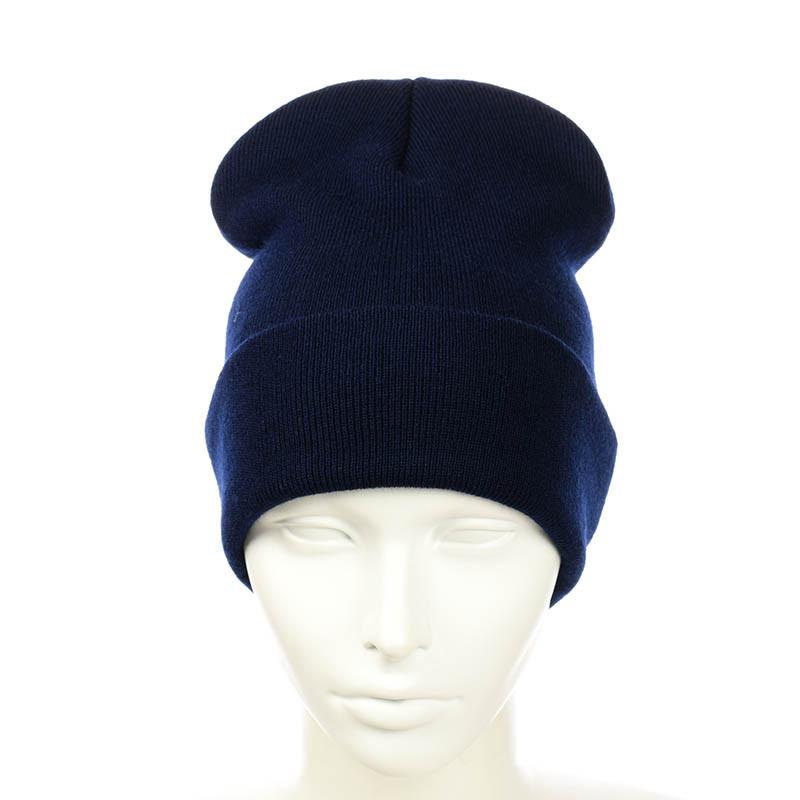 """Молодіжна шапка """"лопата"""" темно-синій"""