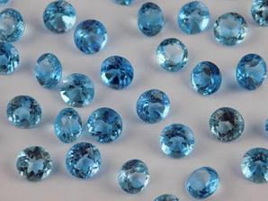 Натуральный топаз голубой 6 мм