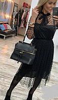 Платье женское с сеткой в горох  руд202
