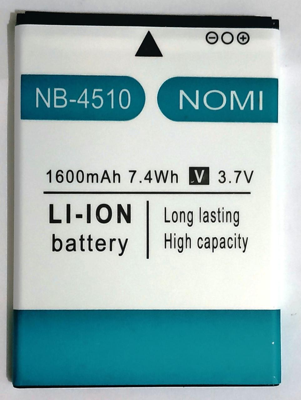 Original Акумулятор NOMI i4510 NB-4510 1600mAh