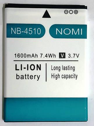 Original Акумулятор NOMI i4510 NB-4510 1600mAh, фото 2