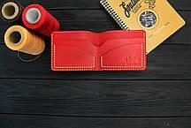 Мужской кожаный бумажник ручной работы VOILE mw2-kred-org, фото 2