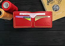 Мужской кожаный бумажник ручной работы VOILE mw2-kred-org, фото 3