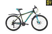 """Велосипед AVANTI SMART 26"""" 2019 черно-зеленый с синим"""