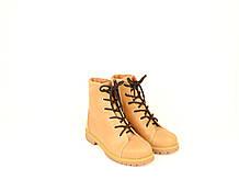 Подростковые ботинки на мальчика натуральный нубук бежевые демисезонные от производителя 233101