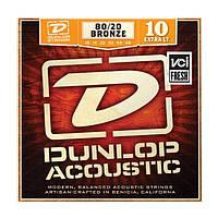 Струны для акустической гитары Dunlop DAB1048 80/20 Bronze Extra Light (010-048)