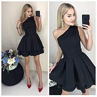 Платье женское ассиметрия на одно плечо, 2 цвета