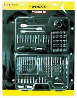 Сверла BT1111, 111 шт., набор сверел, бит комбинированный Work's