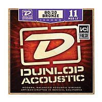 Струны для акустической гитары Dunlop DAB1152 Bronze80/20 Medium Ligh (011-052)