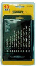 Сверла H1302-4, 13шт., набор сверел по металлу Work's