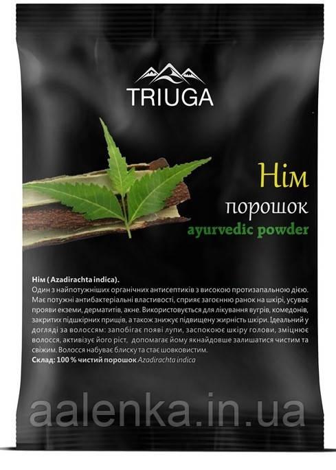 Натуральный аюрведический порошок НИМ , 50г, Triuga