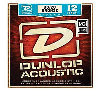 Струны для акустической гитары Dunlop DAB1154 Bronze 80/20 Ligh (012-054)