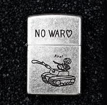 Зажигалка бензиновая Zorro серия Bones «No War»