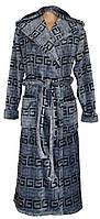 NEW! Стильные мужские махровые халаты из микрофибры - серия Classic Grey Versace ТМ УКРТРИКОТАЖ!