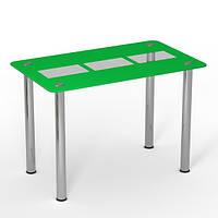 """Скляний стіл """"Тріо грін"""" ТМ Sentenzo, фото 1"""
