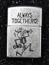 Зажигалка бензиновая Zorro серия Bones «Always Together»